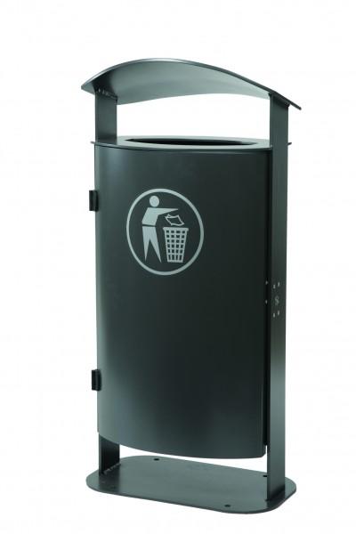 Stand-Abfallbehälter mit gewölbter Haube