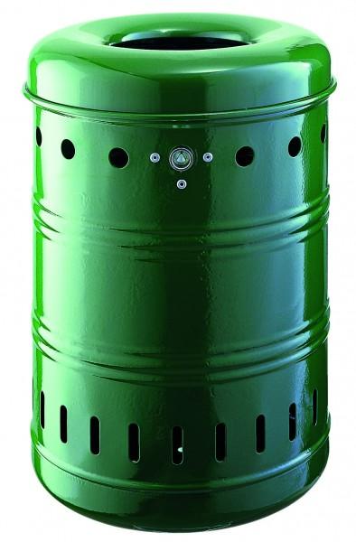 Rund-Abfallbehälter mit Springdeckel