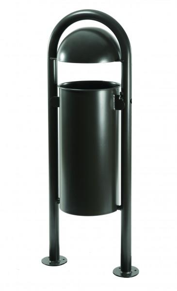 Stand-Abfallbehälter mit Halbkugel