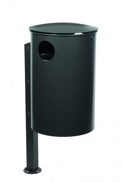 Abfallbehälter mit Pfosten