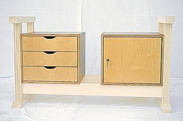 unterschrank mit t r werkbank werkb nke von pador. Black Bedroom Furniture Sets. Home Design Ideas