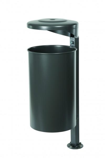 Abfallbehälter inkl. Ascher mit Pfosten