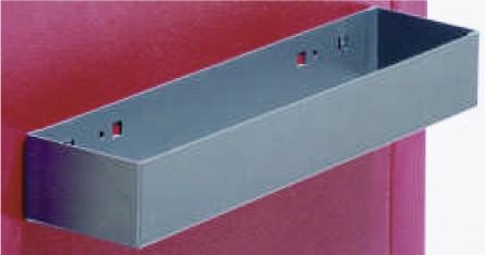 Ablageschale L300 mm aus 1,00 mm Stahlblech