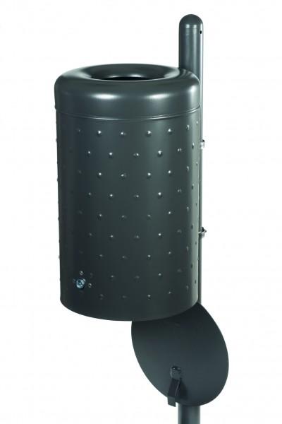 Rund-Abfallbehälter mit Bodenentleerung