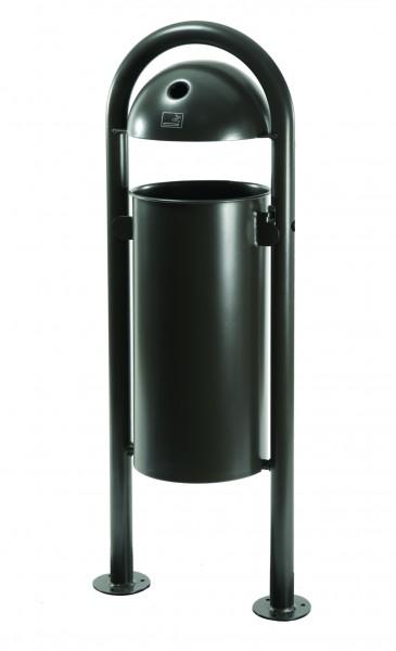 Stand-Abfallbehälter mit integriertem Ascher